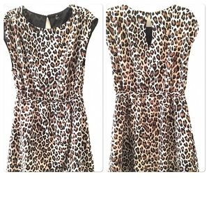 H&M Animal Print Dress Women's Size 14 Sleeveless